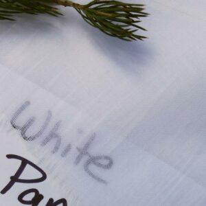 100% Cotton Super Voile White