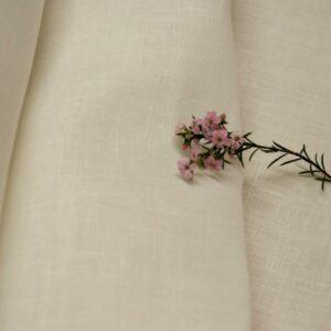 Linen 100% Wide Ivory