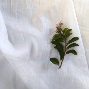 Organic Cotton Washed Single Muslin – White