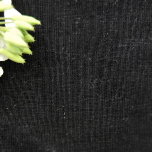 Hemp Organic Cotton Elastane Jersey SUPER Black