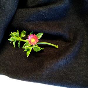 Hemp Organic Cotton Fleecy Black
