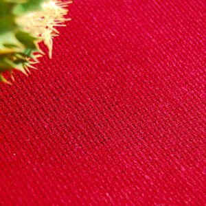 Hemp Organic Cotton Crossweave Rhumba Red