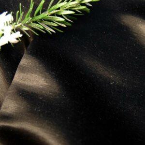Hemp Silk Satin Black