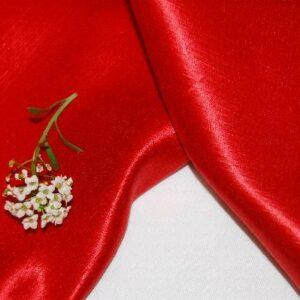 Hemp Silk Satin Red