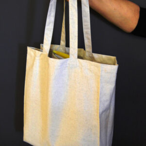 Hemp/ Recycled Cotton /Recycled Rayon Unbleached Tote Bag