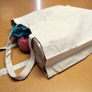 Hemp-Recycled Cotton-Recycled Rayon Unbleached Tote Bag