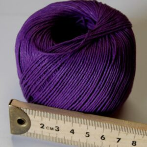 Hemp Twine 1mm -100g Ball Purple