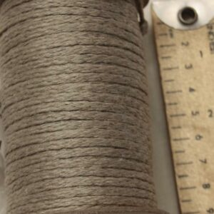 Hemp Braided Cord 2.2mm Diameter, 50m Spool, Natural