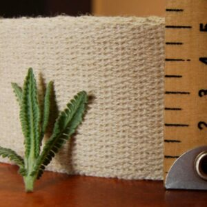 Hemp Webbing 50mm Twill Weave Natural close