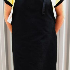 cotton apron BLACK