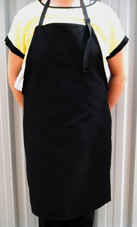 cotton apron BLACK