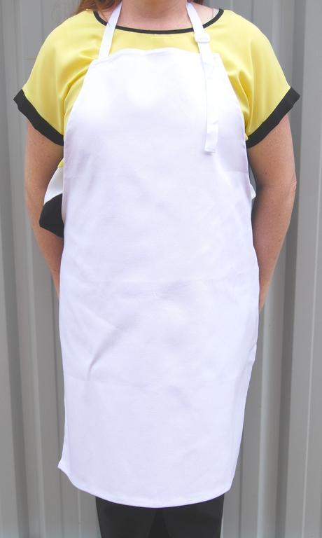 cotton apron WHITE