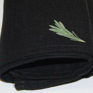 100% Linen Tea Towel BLACK