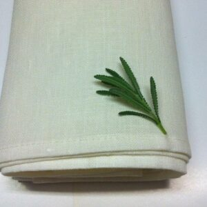 100% Linen Tea Towel Ivory