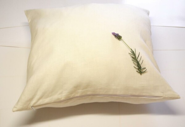 Linen cushion cover IVORY