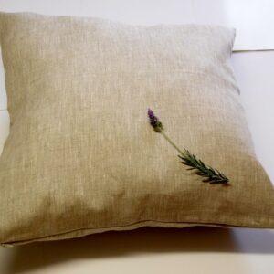 Linen cushion cover OATMEAL